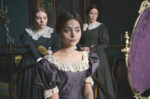 Nell Hudson (Skerrett), Eve Myles (Mrs Jenkins) and Jenna Coleman as Victoria 'Victoria' TV series, episode one - 28 Aug 2016 Photo by ITV/REX/Shutterstock