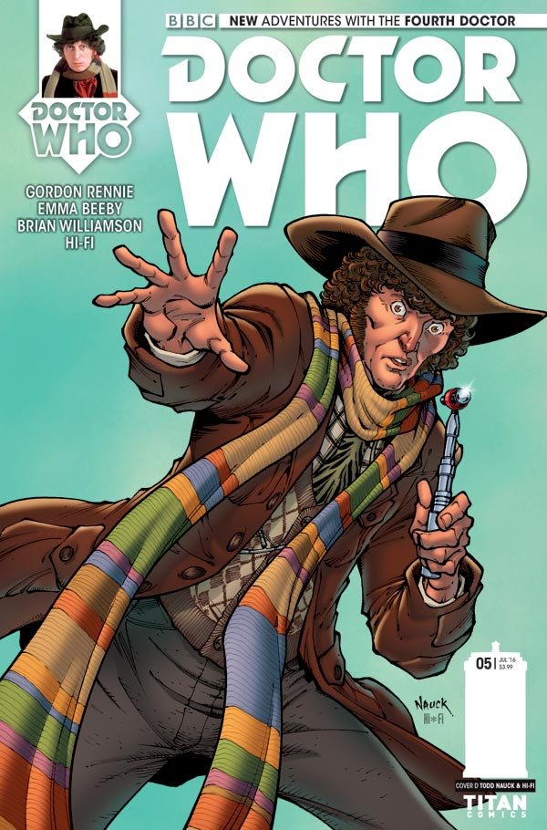 Titan Comics Doctor Who: Fourth Doctor #5 Cover D: Todd Nauck & Hi-Fi