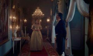 Harriet, Duchess of Sutherland (MARGARET CLUNIE) and Prince Ernest (DAVID OAKES) - Victoria Episode 6 (c) ITV
