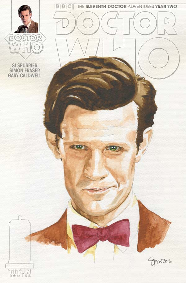 TITAN COMICS - ELEVENTH DOCTOR #2.14 COVER C BY Simon Myers – Watercolor Variant