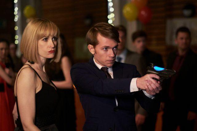 Class - Ep1 Picture Shows: (L-R) Miss Quill (KATHERINE KELLY), Charlie (GREG AUSTIN) - (C) BBC - Photographer: Simon Ridgeway