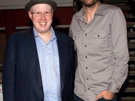 """LONDON, ENGLAND - OCTOBER 04: (L-R) Matt Lucas and David Tennant attend the press night performance of """"The Boys In The Band"""" at The Park Theatre on October 4, 2016 in London, England. (Photo by David M. Benett/Dave Benett/Getty Images)"""