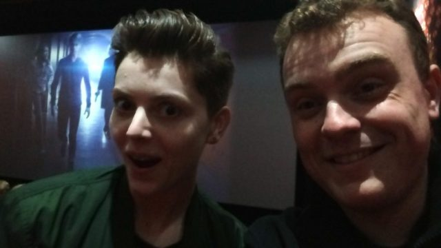 Christel Dee - Doctor Who The Fan Show and Mat Greenfield (Selfie) - Class World Premiere