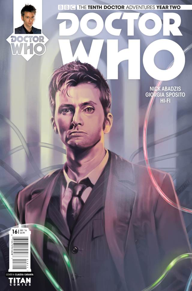 TITAN COMICS TENTH DOCTOR #2.16 COVER BY QUESTION NO. 6