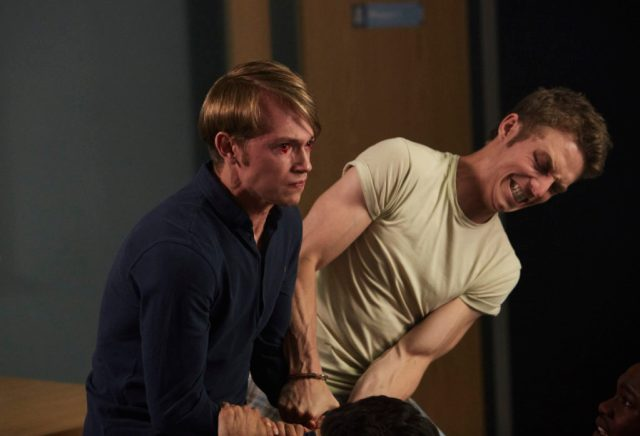 Class - Ep6 (No. 6) - Picture Shows: (L-R) Charlie (GREG AUSTIN), Matteusz (JORDAN RENZO) - (C) BBC - Photographer: Simon Ridgeway