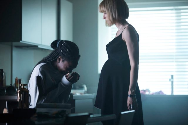 Class - Ep8 (No. 8) - Picture Shows: Tanya (VIVIAN OPARAH), Miss Quill (KATHERINE KELLY) - (C) BBC - Photographer: Simon Ridgeway