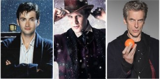 Tenth Doctor (DAVID TENNANT), Eleventh Doctor (MATT SMITH) and Twelfth Doctor (PETER CAPALDI)