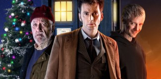 Bernard Cribbins as Wilf David Tennant as The Doctor and John Simm as the Master - Doctor Who The End of Time - (c) BBC