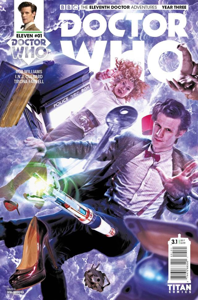 TITAN COMICS - DOCTOR WHO ELEVENTH DOCTOR YEAR THREE #1 - COVER B WILL BROOKS