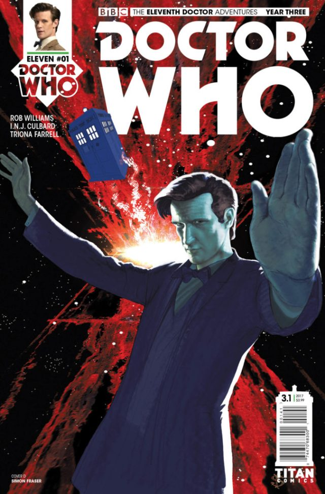 TITAN COMICS - DOCTOR WHO ELEVENTH DOCTOR YEAR THREE #1 - COVER D SIMON FRASER