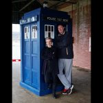 Peter Capaldi and Neil Fingleton - behind the Scenes - Doctor Who Series 9 - Before the Flood c) BBC
