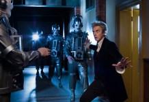 Doctor Who S10 - The original Mondasian Cybermen return to Doctor Who - Picture Shows: The original Mondasian Cybermen, The Doctor (PETER CAPALDI) - (C) BBC - Photographer: Simon Ridgway