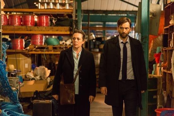 David Tennant and Olivia Colman - Broadchurch Series 3 (c) ITV