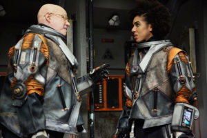 Doctor Who S10 - TX: 13/05/2017 - Episode: Oxygen (No. 5) - Picture Shows: Nardole (MATT LUCAS), Bill (PEARL MACKIE) - (C) BBC/BBC Worldwide - Photographer: Simon Ridgway