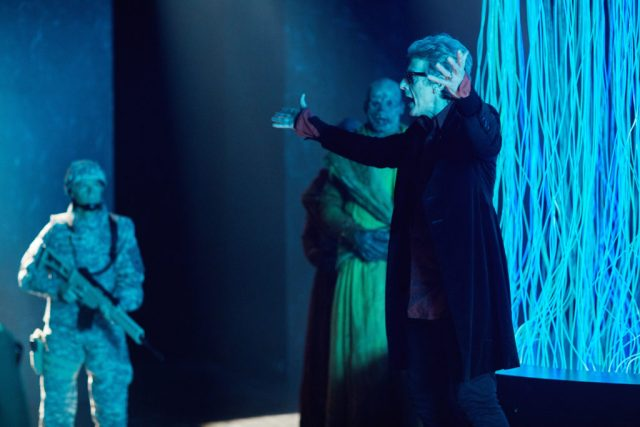 Doctor Who S10 - TX: 27/05/2017 - Episode: The Pyramid At The end Of The World (No. 7) - Picture Shows: Soldier, The Doctor (PETER CAPALDI) - (C) BBC/BBC Worldwide - Photographer: Simon Ridgway