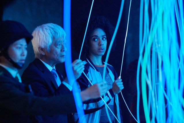 Doctor Who Episode: The Pyramid At The end Of The World (No. 7) - Xiaolian (DAPHNE CHEUNG), Secretary General (TOGO IGAWA), Bill (PEARL MACKIE) - (C) BBC/BBC Worldwide - Photographer: Simon Ridgway