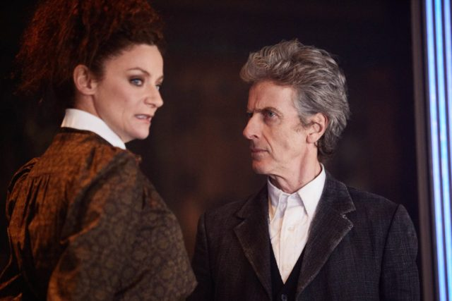 Doctor Who: The Lie of The Land (No. 8) Missy (MICHELLE GOMEZ), The Doctor (PETER CAPALDI) - (C) BBC/BBC Worldwide - Photographer: Simon Ridgway