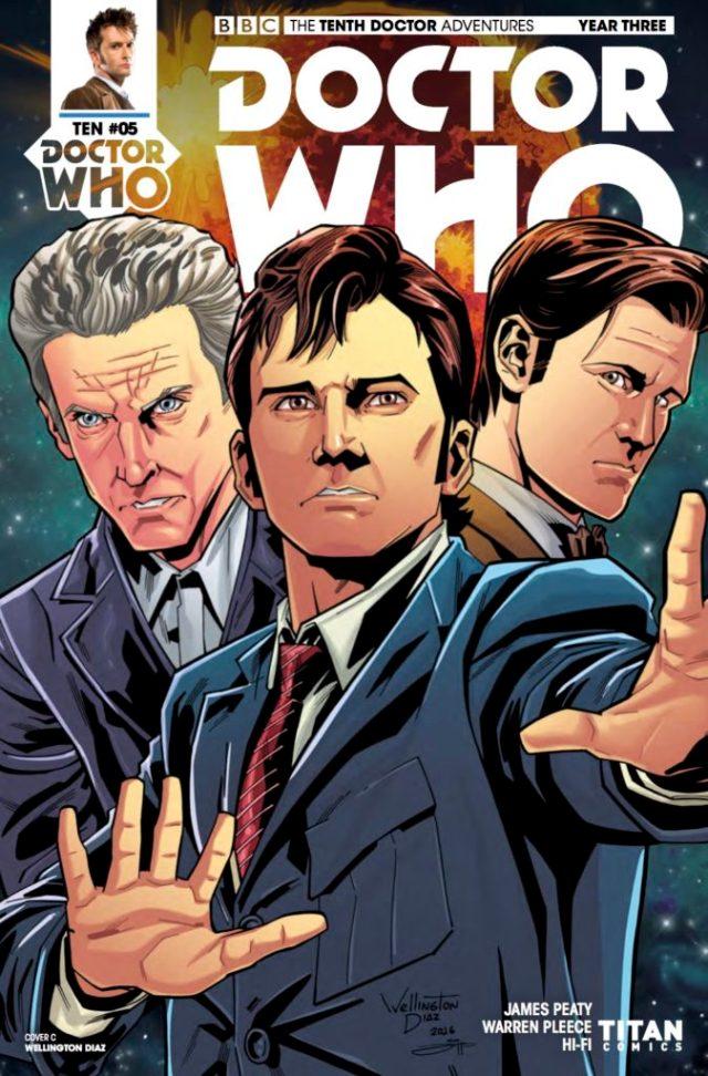 TITAN COMICS - TENTH DOCTOR YEAR THREE #5 - COVER C: WELLINGTON ALVES