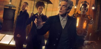Doctor Who - The Doctor Falls - Iconic - Picture Shows: The Master (JOHN SIMM), Missy (MICHELLE GOMEZ), The Doctor (PETER CAPALDI) - (C) BBC/BBC Worldwide - Photographer: Simon Ridgway/Ray Burmiston