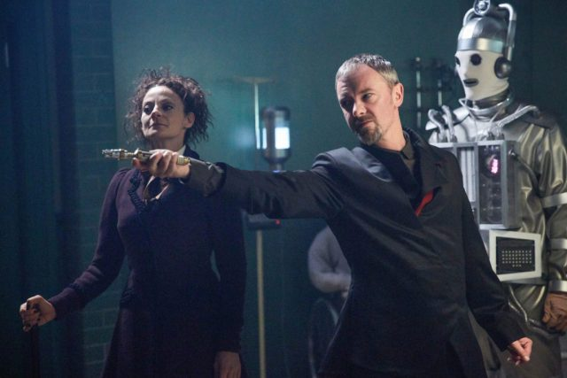 Doctor Who - S10 - The Doctor Falls- The Master (JOHN SIMM), Mondasian Cyberman, Missy (MICHELLE GOMEZ) - (C) BBC/BBC Worldwide - Photographer: Simon Ridgway