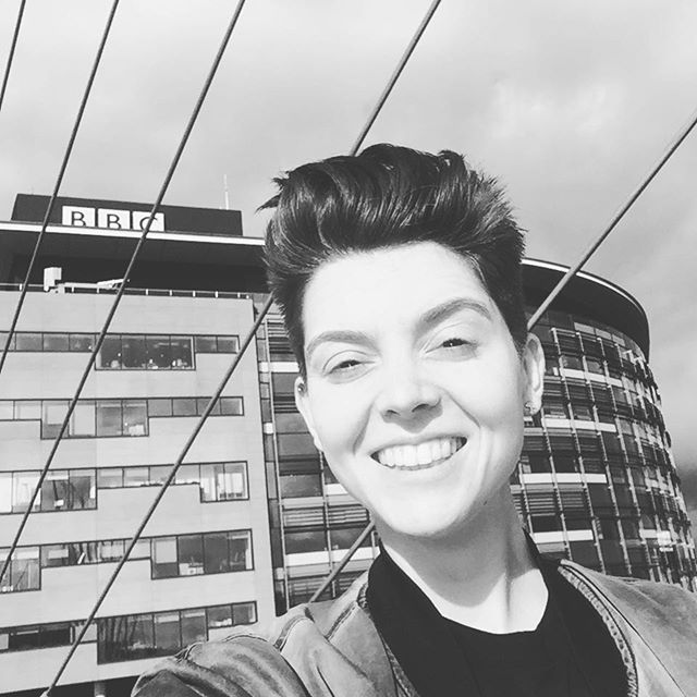 Christel Dee at Television Centre @photo via christeldeeofficial on Instagram