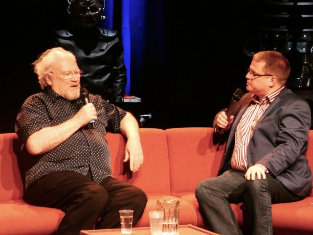 Colin Baker and Martin Parsons - Who's at the Playhouse @ Diane Malkin for Blogtor Who