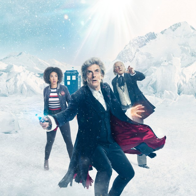 Doctor Who - Christmas Special 2017 - Twice Upon A Time - Pictures Shows: Pearl Mackie (Bill), Peter Capaldi (The Doctor), David Bradley (The Doctor) - BBC 2017