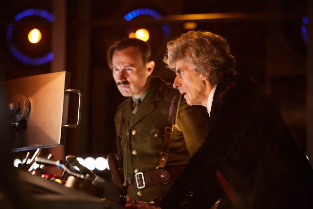 The Captain (MARK GATISS), The Doctor (PETER CAPALDI) - (C) BBC/BBC Worldwide - Photographer: Simon Ridgway