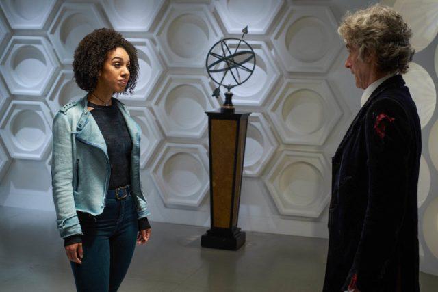 Bill (PEARL MACKIE), The Doctor (PETER CAPALDI) - (C) BBC/BBC Worldwide - Photographer: Simon Ridgway