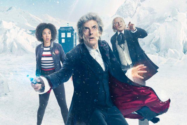 The First Doctor (DAVID BRADLEY), The Doctor (PETER CAPALDI), Bill (PEARL MACKIE) - (C) BBC/BBC Worldwide - Photographer: Ray Burmiston