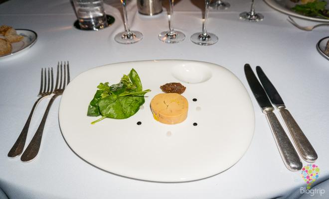 Gastronoma y Cocina de Francia fois gras en salsa de brevas
