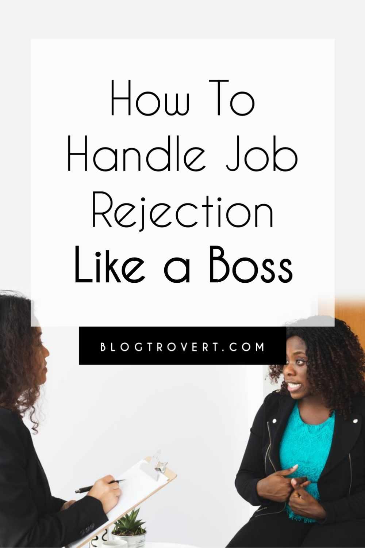 Handle Job Rejection