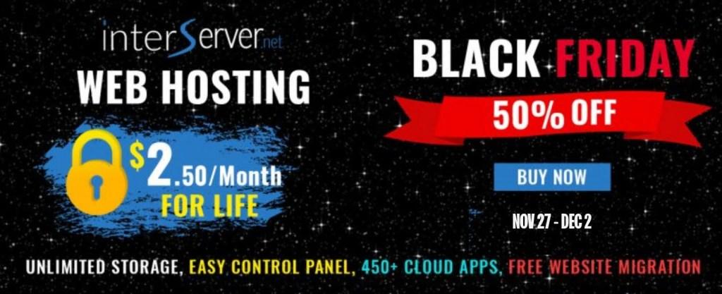 Interserver black friday hosting