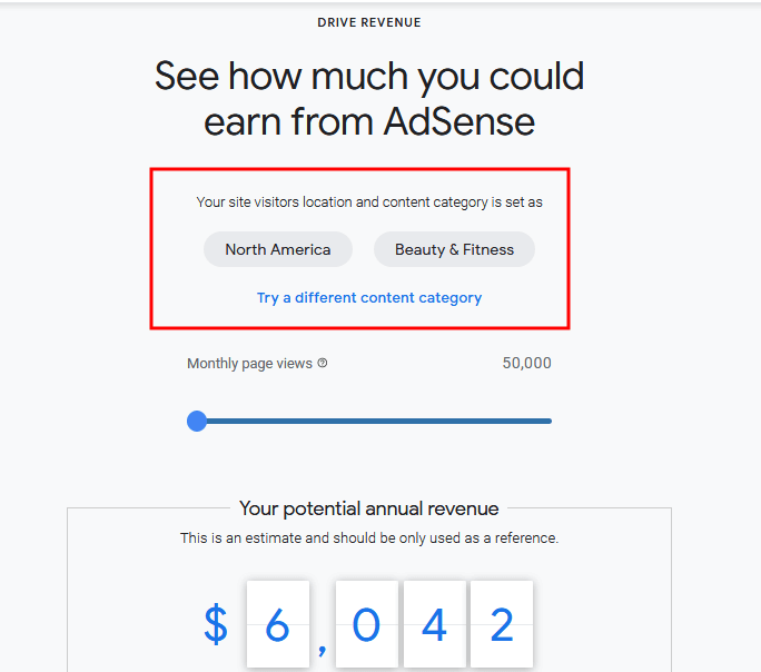 Beauty and fitness Adsense earnings