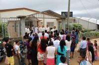Decenas de amigos y vecinos participan en la inauguración de la Iglesia Adventista de Villa Clemen, en Montelíbano Córdoba el pasado 2 de mayo [Foto: Alessandro Simoes]