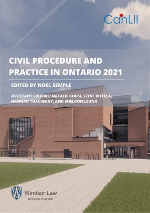 Page de garde de 'Civil Procedure in Ontario'