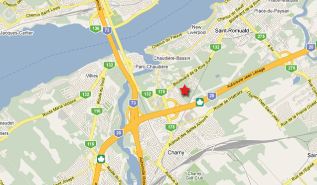 emplacement-geographique-du-carrefour-st-romuald