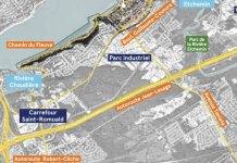 Carte du secteur du Carrefour St-Romuald