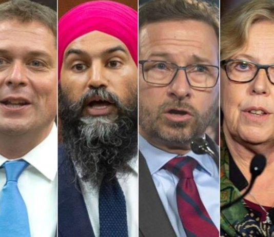 Chefs des partis politiques fédéraux au débat de Radio-Canada