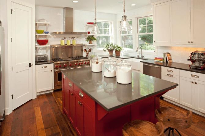 idees de deco pour une cuisine de style moderne rustique