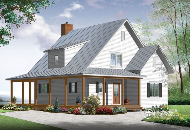 new beautiful small modern farmhouse cottage two story country farmhouse - 2 Story Country House Plans