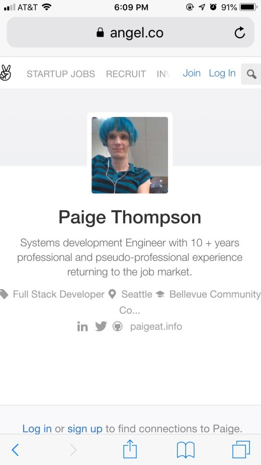Compte Angel.co de Paige Thompson