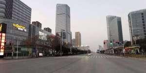 Les rues désertes de la ville de Wuhan, en Chine