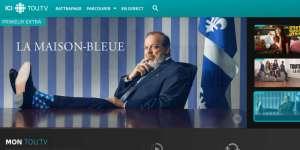Page d'accueil de Tou.tv