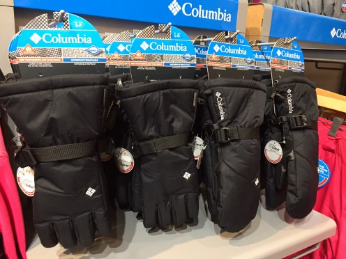 Columbia ski gloves/mitts — $$$