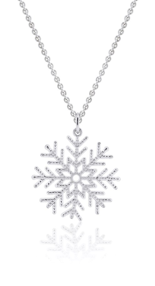 Snowflake pendant from Joaillerie St-Onge — $$$