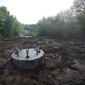 Voici un aperçu d'une fondation qui est prête à recevoir sa nouvelle tour!