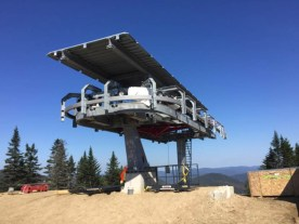 Roof installation has been completed on the summit terminal.
