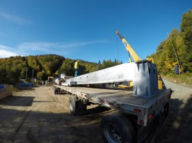Delivery of structural components for the lower terminal.