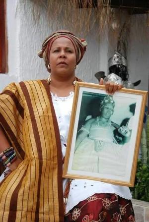 Mãe Jaciara, sucessora de Mãe Gilda no Terreiro Axé Abassá de Ogum. Arquivo pessoal.